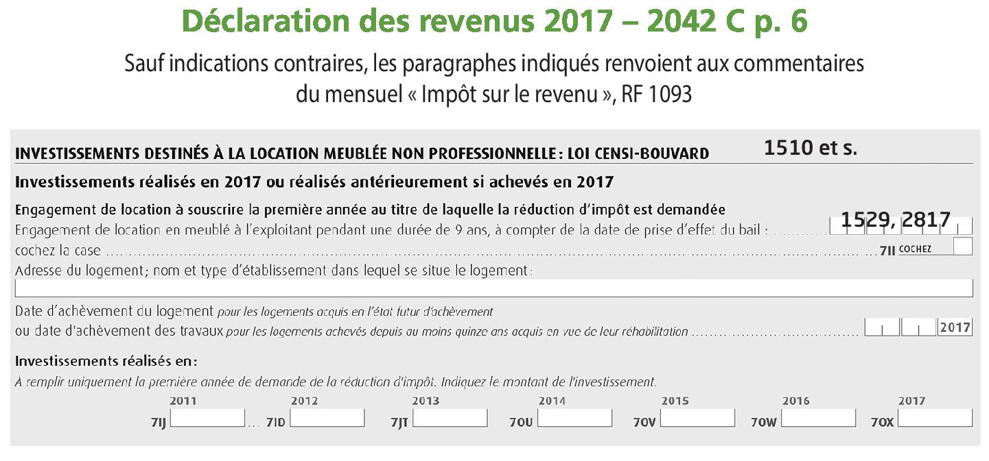 Declaration Des Revenus De 2017